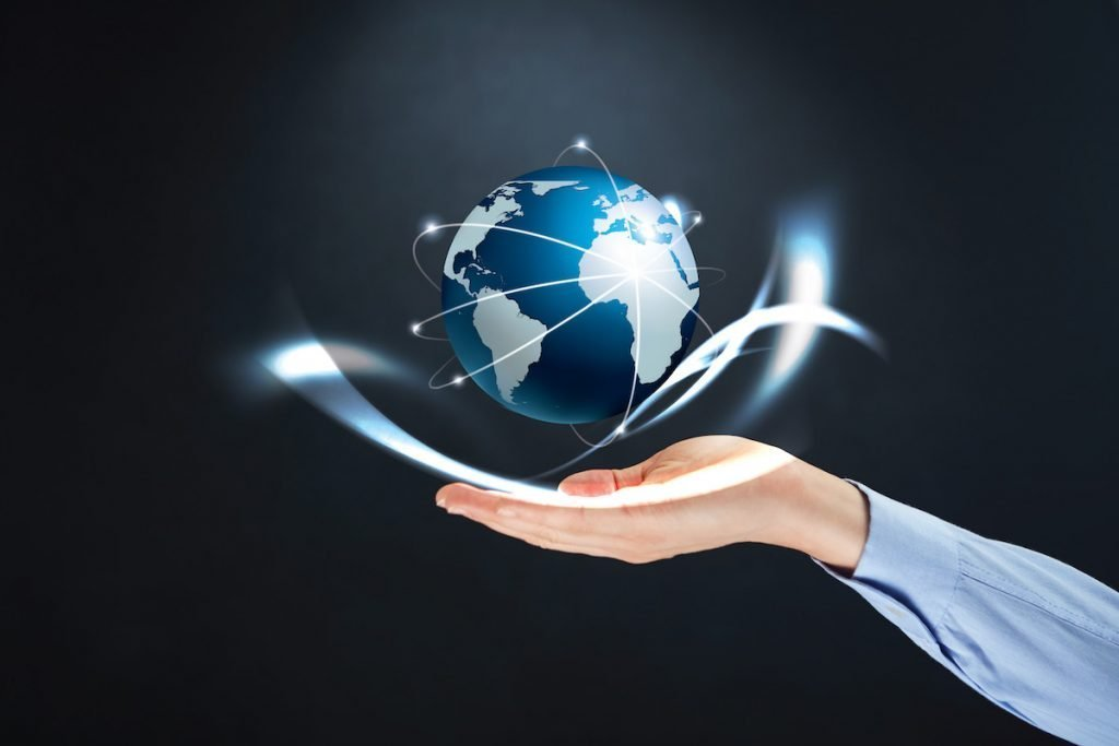 Hand holding globe representing SIP Trunking